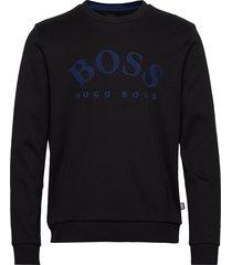 salbo sweat-shirt tröja blå boss