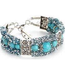 moda perline colorate strass bracciali per donna bracciale in turchese vintage