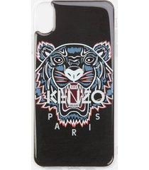 kenzo men's tiger iphone xs max case - black