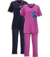 pyjama's per 2 stuks harmony fuchsia::marine