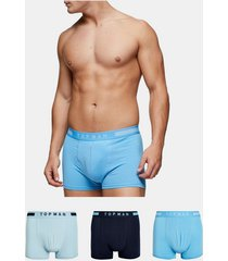 mens multi shades of blue trunks 3 pack*