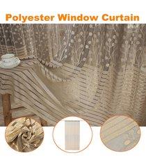 poliéster moderna cortina de tul drapeado salón dormitorio ventana gasa 100x200cm - no especificado