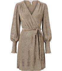 omlottklänning objviolet l/s wrap dress 112