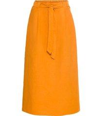 gonna in misto lino con cintura (giallo) - bodyflirt