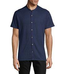 regular-fit textured short-sleeve shirt