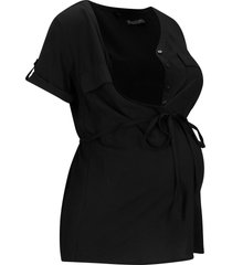 camicetta prémaman / da allattamento in  lenzing™ ecovero™ (nero) - bpc bonprix collection