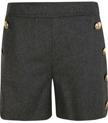 moschino button embellished shorts