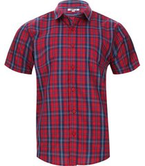 camisa a cuadros doble borde color rojo, talla s
