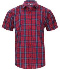camisa a cuadros doble borde color rojo, talla s