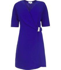 jurk met riem detail pixie  indigo
