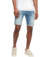 g-star d10481 8968 - 3301 slim short shorts and bermudas men denim light blue