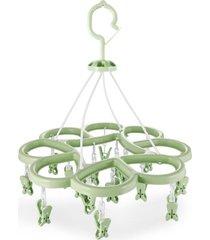 mini varal com 16 prendedores jacki design lifestyle verde.