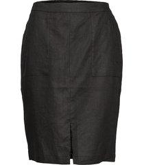 sara skirt knälång kjol svart masai
