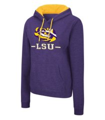 colosseum lsu tigers women's genius hooded sweatshirt
