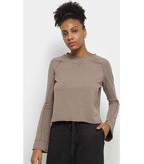 blusa lupo af moletom leve feminina