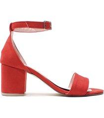 sandalia   roja felmini mini grecia