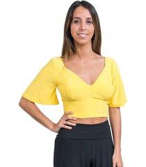 crop top magaly amarillo