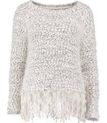 vero moda trui antique white met kleine pailletten