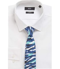 gravata boss tie azul