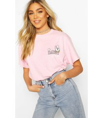 disney daisy duck pocket print t-shirt, pink