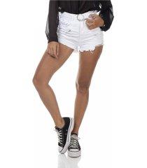 shorts jeans denim zero setentinha black and white