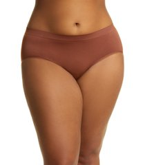 women's nordstrom bare hipster panties, size small - brown