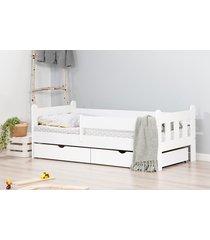 łóżko nightingale dwie szuflady kolor biały