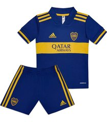 conjunto azul  adidas mini uniforme visitante boca