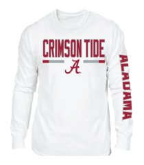 retro brand alabama crimson tide men's team stripe long sleeve t-shirt