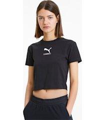 nu-tility nauwsluitend t-shirt voor dames, zwart, maat s | puma