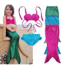 new mermaid tail swimmable bikini set bathing suit cosplay costume fancy dress