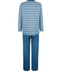 pyjamas babista ljusblå/vit
