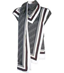 proenza schouler sleeveless scarf top - black