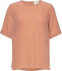 tonga silk ss t-shirt t-shirts & tops short-sleeved roze second female