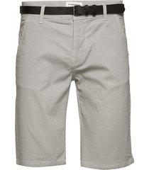 aop chino shorts w. belt shorts chinos shorts grå lindbergh