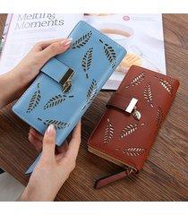 billetera mujeres- bolsos largos de la cartera de las-azul