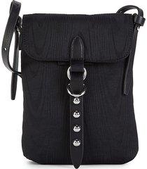 rebecca minkoff women's bowie phone crossbody bag - black