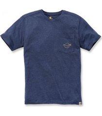 carhartt t-shirt men maddock strong graphic s/s indigo heather-xxl