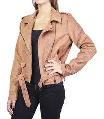 chaqueta croco marrón humana