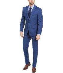 izod men's classic-fit blue solid suit