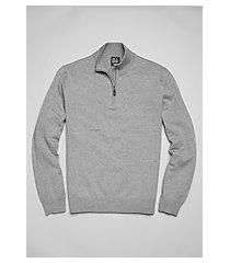 traveler collection mock neck cotton quarter-zip men's sweater - big & tall