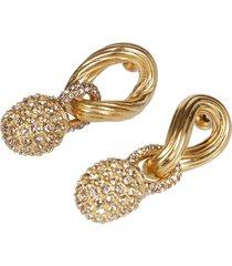 agnona gold-tone silver earrings
