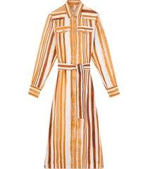 dana dress in ecru/multicolor
