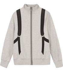 fendi full zip cotton hoodie