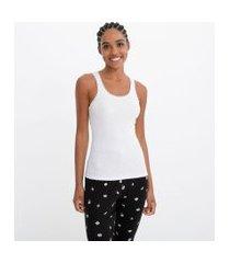 blusa de pijama alcinha com renda no decote | lov | branco | gg