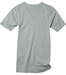 dubbelpak v-shirts, grijs gemêleerd 5