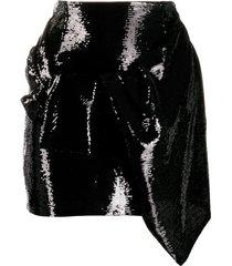 amen high rise mini skirt - black