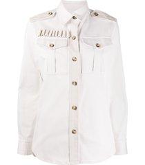 forte dei marmi couture button-front jacket - white