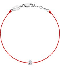 altesse pear diamond red cord bracelet