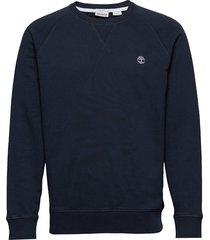 e-r basic regular crew sweat-shirt tröja blå timberland